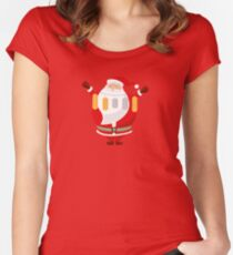 Lucky Santa Claus Fitted Scoop T-Shirt