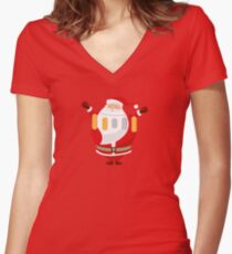 Lucky Santa Claus Fitted V-Neck T-Shirt
