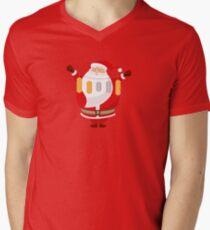 Lucky Santa Claus V-Neck T-Shirt