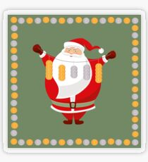 Lucky Santa Claus Transparent Sticker