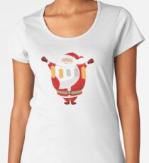 Lucky Santa Claus Premium Scoop T-Shirt