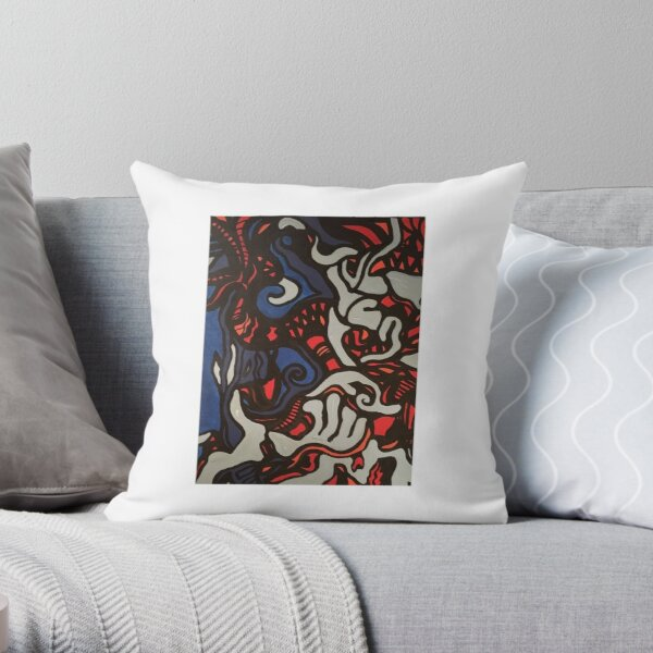 Monster in my dreams Throw Pillow