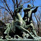 Soldier and Horse at Vicksburg Siege Memorial by Debbie Robbins