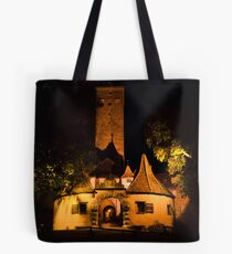 Rothenburg West Gate at Night Tote Bag