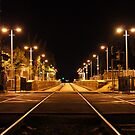 Railway Line at night by MuscularTeeth