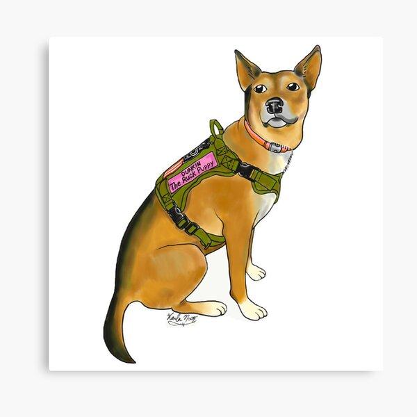 Dunkin the Ruck Puppy Canvas Print
