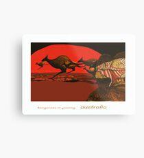 Kangaroos in Passing Metal Print