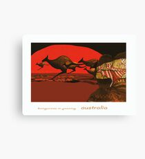 Kangaroos in Passing Canvas Print