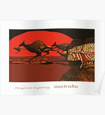 Kangaroos in Passing Poster