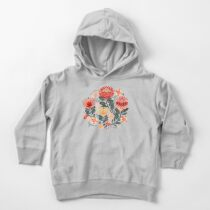 Protea Chintz - Grey & Red Toddler Pullover Hoodie