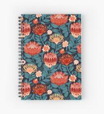 Protea Chintz - Navy Spiral Notebook