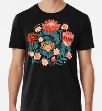 Protea Chintz - Navy Premium T-Shirt