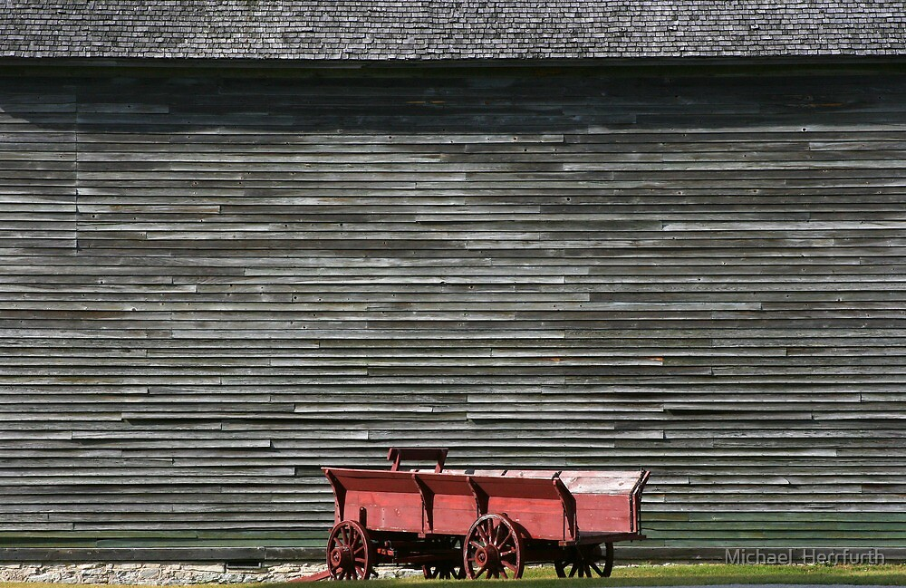 Red Wagon by Michael  Herrfurth