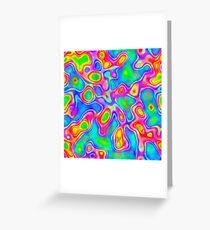 Random virtual color pixel abstraction Greeting Card