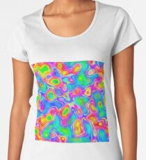 Random virtual color pixel abstraction Premium Scoop T-Shirt