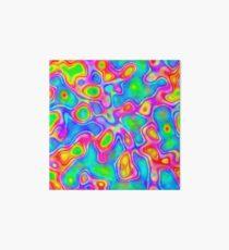 Random virtual color pixel abstraction Art Board Print