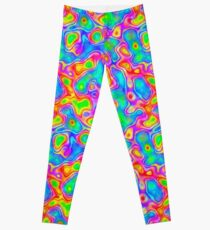 Random virtual color pixel abstraction Leggings