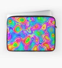 Random virtual color pixel abstraction Laptop Sleeve