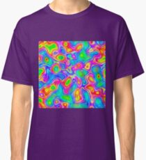 Random virtual color pixel abstraction Classic T-Shirt