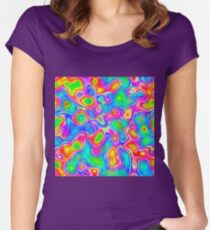 Random virtual color pixel abstraction Fitted Scoop T-Shirt