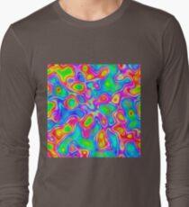 Random virtual color pixel abstraction Long Sleeve T-Shirt