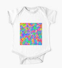 Random virtual color pixel abstraction Short Sleeve Baby One-Piece