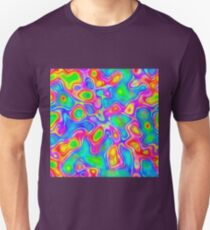 Random virtual color pixel abstraction Slim Fit T-Shirt