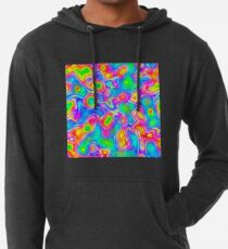 Random virtual color pixel abstraction Lightweight Hoodie