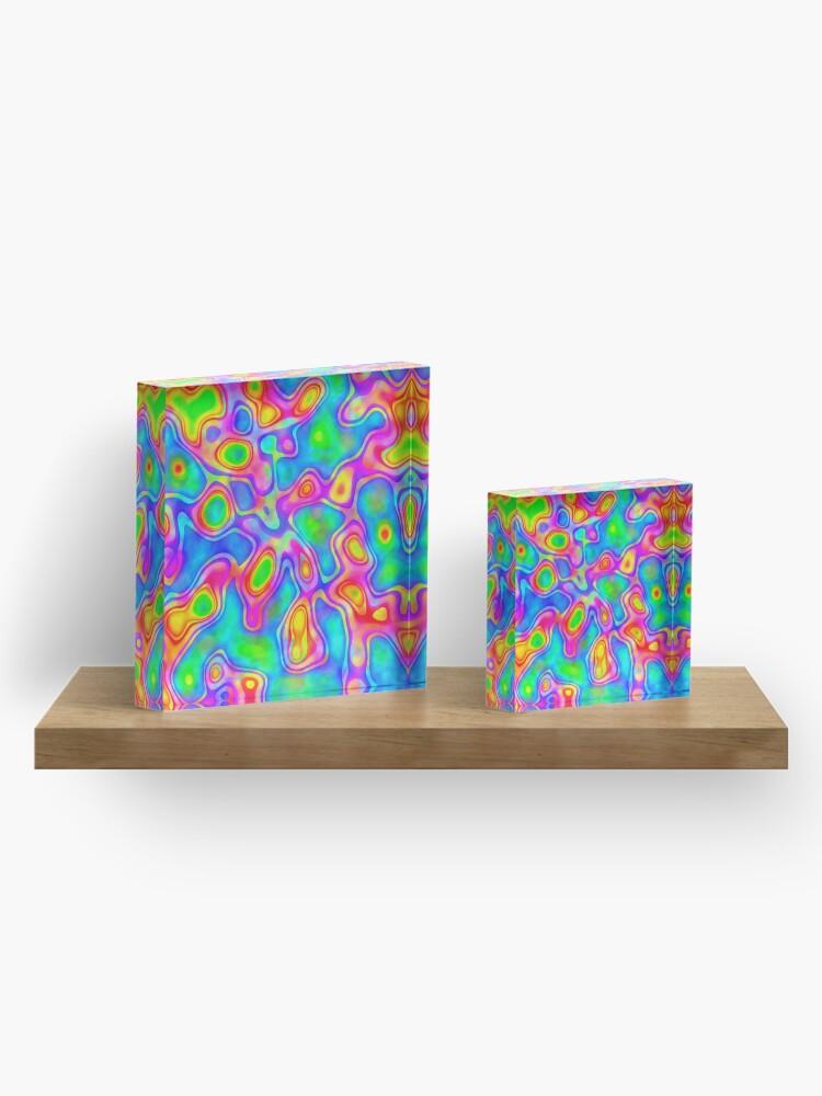 Alternate view of Random virtual color pixel abstraction Acrylic Block