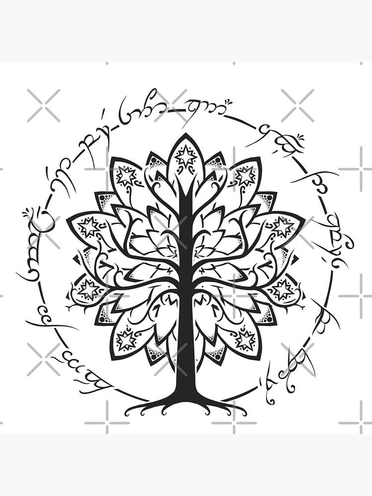 Minimalist White Tree by njonestees