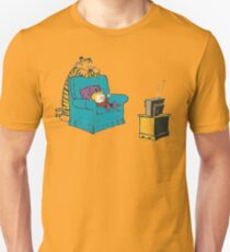 calvin and hobbes wacthing tv Unisex T-Shirt
