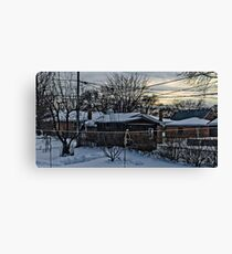 One Cold Winter Morning Canvas Print