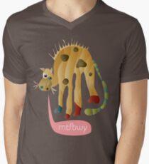 Yellow Cat-astrophe MTFBWY Men's V-Neck T-Shirt
