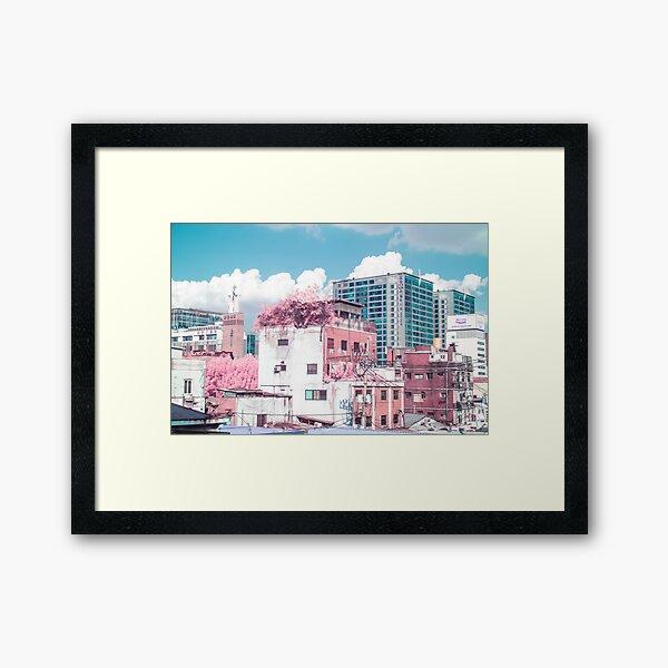 Seoul Anime World Framed Art Print