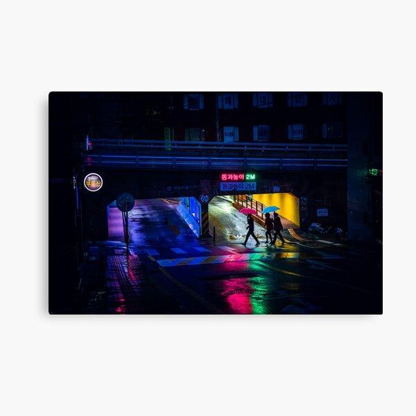 Rainy Reflections Canvas Print