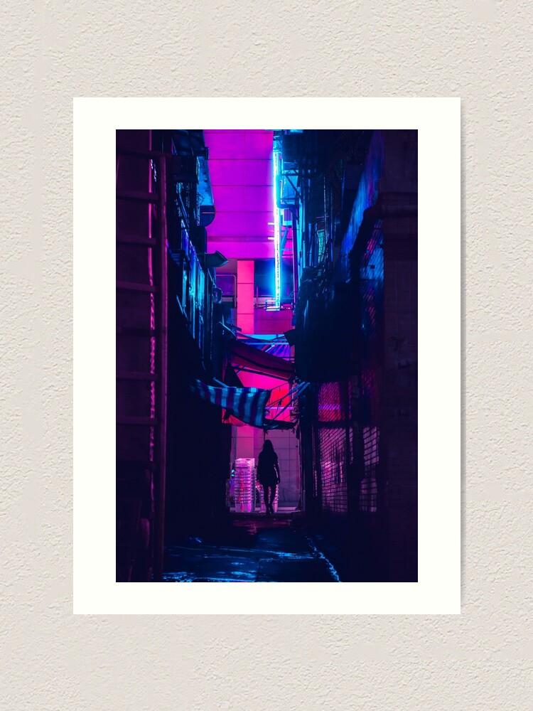 Alternate view of Hong Kong Outrun Art Print