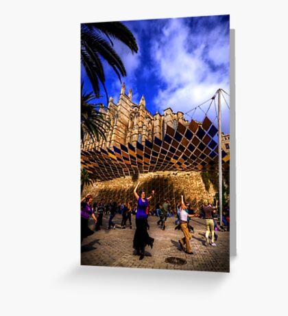Spanish Street Dancers Greeting Card