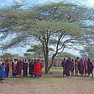 Maasai, Villagers,Tanzania, Africa by Adrian Paul
