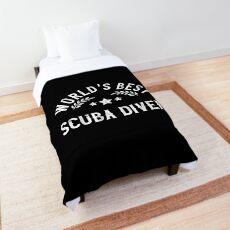 Funny Gift World's Best Scuba Diver Comforter