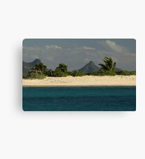 Deserted Beach in the Grenadines Canvas Print