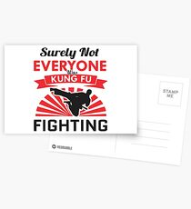 Top Selling Surely Not Everyone Was Kung Fu Fighting Merchandise Postcards