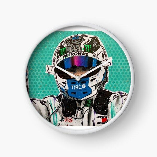 Valtteri Bottas 2019 F1 graffiti painting by DRAutoArt Clock
