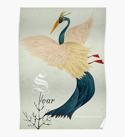 Soar flamingo! Poster