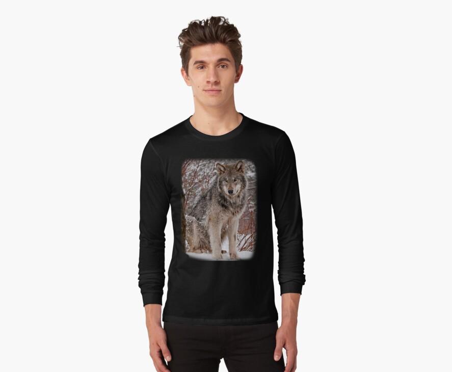 Wolf Shirt - 3 by Michael Cummings