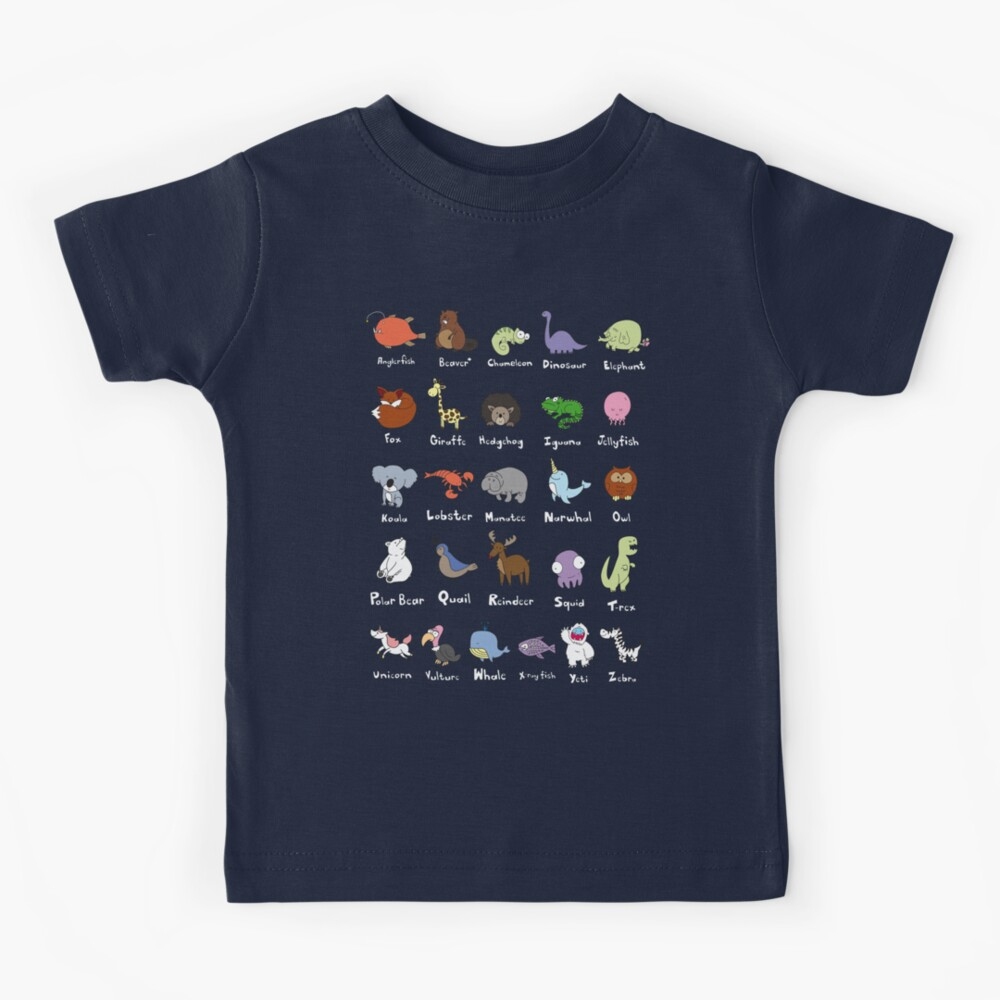 The Animal Alphabet Kids T-Shirt