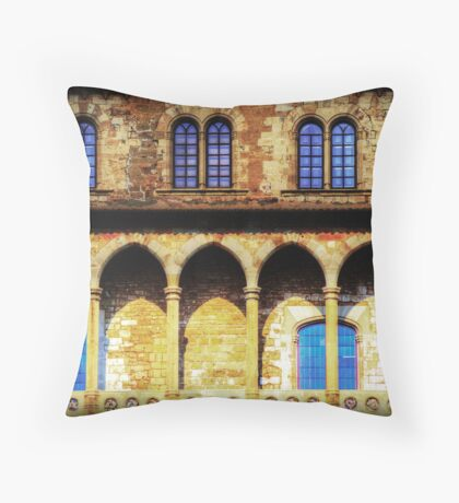Fortified Arches Throw Pillow