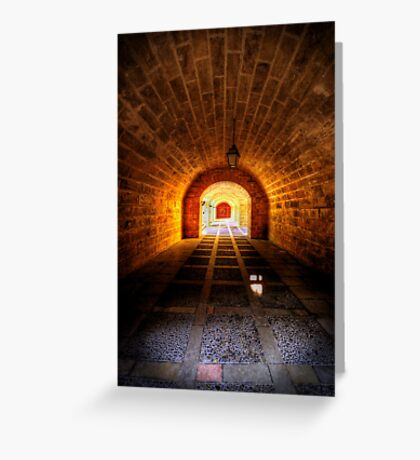 Fortress Tunnels Greeting Card