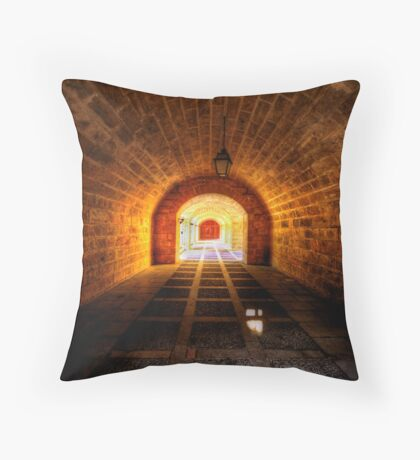 Fortress Tunnels Throw Pillow