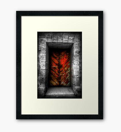 The Red Door Framed Print