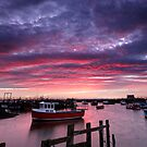 Panoramic Paddys Sunset by Dave Hudspeth